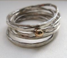 silver stacking rings | Silver/9carat gold stack rings | Felt