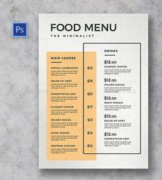 An article curating the perfect modern catering menus for caterers. Menu Restaurant, Restaurant Themes, Bakery Menu, Restaurant Menu Template, Drink Menu Design, Cafe Menu Design, Menu Card Design, Stationary Design, Food Menu Template