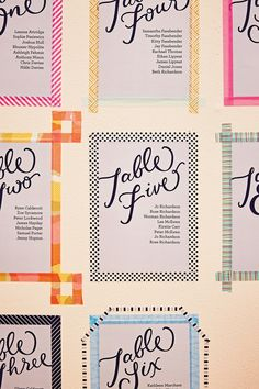 DIY Washi Tape Table Plan (BridesMagazine.co.uk)