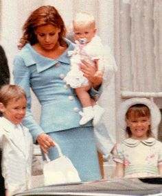 Princess Stephanie of Monaco with her three children Louis, Pauline and Camille