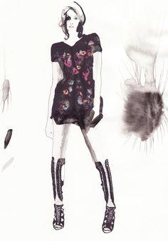 francesca-waddell fashion illustration