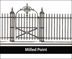 Traditional Iron Fence Dignified Three Rail Fence Is