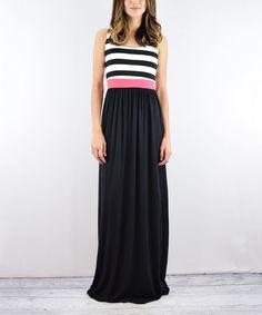 Look at this #zulilyfind! Black Stripe Maxi Dress #zulilyfinds