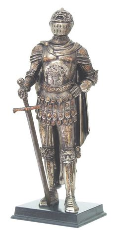 Medieval Knight Statue almost 12 inches high costs only $57.99  Wonderful Old World Style to add elegance to any Traditional Home Decor!