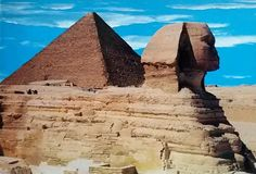 Giza - The Great Sphinx & Keops Pyramids 02