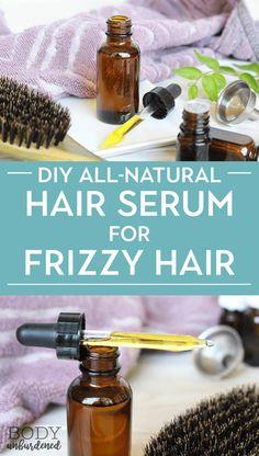 DIY All-Natural Hair Serum For Frizzy Hair