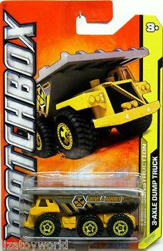 3 Axle Dump Truck MATCHBOX 2012 MBX Construction #7/10 Yellow/Gray