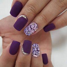 Beautiful nails, Birthday nails, Fashion nails 2016, Festive nails, Floral nails, flower nail art, Matte nails, Nails ideas 2016