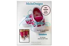 Miche Designs Sneakers Shoe Pattern for American Girl ® Dolls | Liberty Jane Doll Clothes Patterns For American Girl Dolls $3.99