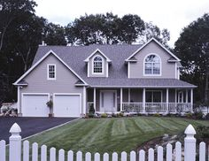 4 bedroom Farm House with large deck in back. Farm House Plan # 131029