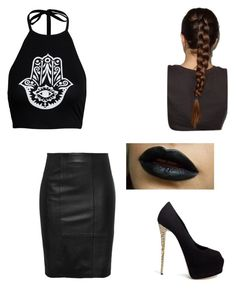 """""""Classy gal"""" by britill ❤ liked on Polyvore featuring Boohoo and Giuseppe Zanotti"""