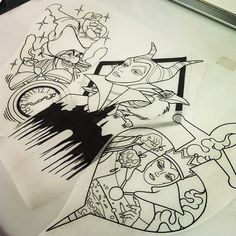 This evil queen and maleficent would make GORGEOUS tattoos!