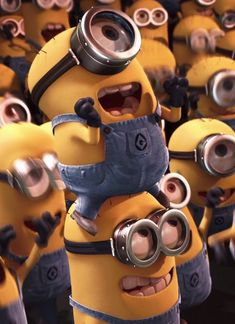 。◕‿◕。 Minions Crazy Best Friends. See my Despicable Me Minions pins https://www.pinterest.com/search/my_pins/?q=minions