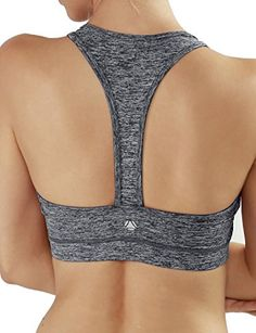 Yoga Reflex Womens Racerback Yoga Athletic Fitness Sports Bra Top  Charcoal  Large *** Read more  at the image link.Note:It is affiliate link to Amazon.