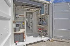 Image result for container workshop Shipping Container Workshop, Shipping Container Sheds, Shipping Containers, Container Homes, Steel Workbench, London Cafe, Sea Containers, Roller Doors, Simple Addition