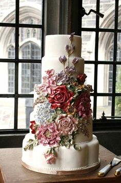 103 Cutest Wedding Cake Trends of These Days! Beautiful Wedding Cakes, Gorgeous Cakes, Pretty Cakes, Amazing Cakes, Extravagant Wedding Cakes, Fancy Wedding Cakes, Wedding Bun, Table Wedding, Wedding Engagement
