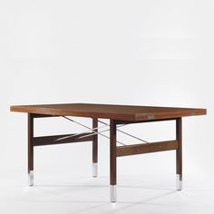 Pierre Guariche; Pallisander 'Prestige' Dining Table for Huchers Minvielle, 1962.