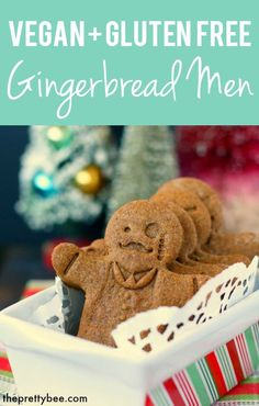 Classic gingerbread men are a fun treat to bake this holiday season! This recipe is gluten free, vegan, and allergy friendly! Gluten Free Gingerbread Cookies, Gingerbread Men, Gluten Free Cookies, Christmas Gingerbread, Vegan Christmas, Christmas Baking, Christmas Cookies, Holiday Baking, Allergy Free Recipes
