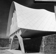 Cosmic #brutalism. Pabellón de Rayos Cósmicos / Cosmic Rays Pavillion by Félix Candela (México D.F., 1952). pic.twitter.com/YFpvfOssLW