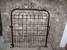 Antique Wrought Cast Iron Garden Gate Fence Architectural Salvage | EBay