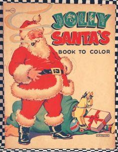vintage Jolly Santa coloring book