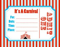picture relating to Printable Carnival Birthday Invitations referred to as 15 Least difficult Carnival birthday invites illustrations or photos within just 2018