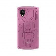 Capa Nexus 5 - Cruzerlite Bugdroid Circuit Case - Pink  R$51,21