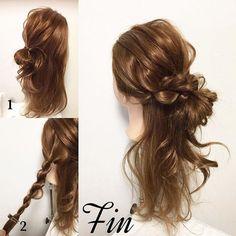 #mayahairNO880 のアレンジのやり方です♪(๑ᴖ◡ᴖ๑)♪ 【アレンジプロセス】 ①はち上からぼんのくぼ辺りにかけて1つに結び毛先を折り返してお団子を作ります。 ※折り返した毛先は下向きにして、残している髪の毛と馴染むようにして下さい。 ②両サイドの髪をそれぞれロープ編みします。 Fin→両サイドのロープ編みをお団子の上でクロスさせ、お団子の下に毛先を持っていき、1つに結んで完成🤗 #mayahairアレンジ動画 【ロープ編み】 ロープ編みの基本的なやり方です。 今回はロープ編みをお団子とに巻きつけたハーフアップのアレンジをしました🤗 #mayahairNO80 のアレンジスタイルのやり方でもあるのでぜひご覧下さい🤗…