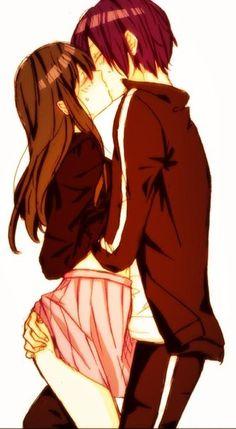 Noragami~yato X hyori Anime Naruto, Anime Noragami, Yato And Hiyori, Anime Sexy, Anime Sensual, Manga Love, Anime Love, Anime Comics, Kawaii