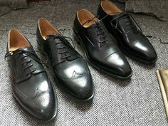 classic black oxfords and derbys that will work with 90% of the suits in your wardrobe.
