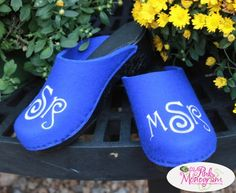 Monogrammed Clogs From The Pink Monogram