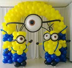Dispicable Me balloon arch and columns Birthday Party Planner, Monkey Birthday Parties, Lego Birthday Party, Minion Birthday, 21st Birthday, 40th Birthday Decorations, Birthday Themes For Boys, Balloon Decorations, Birthday Ideas