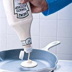 Use as a pancake dispenser....great idea for taking camping too!