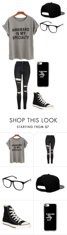 """Untitled #137"" by darksoul7 on Polyvore featuring Topshop, H&M, '47 Brand, Converse and Casetify"
