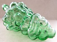 Your place to buy and sell all things handmade Vintage Green Glass, Eclectic Decor, Decor Ideas, Display, Fruit, Bottle, Etsy, Floor Space, Billboard