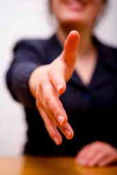 Women Shaking Hands? OK?