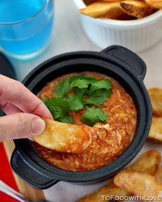 To Food with Love: Potato Wedges with Singapore Chilli Crab Dip