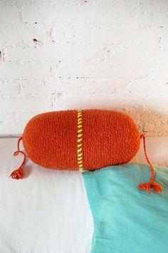 Pillow Crochet Marrakech  Orange por lacasadecoto en Etsy, €24.00