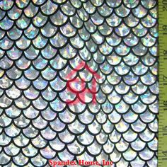 Items similar to Silver Large Fish Scale on Black Lycra Fabric on Etsy Mermaid Swim Tail, Mermaid Swimming, Mermaid Scales, Holographic Foil, Hologram, Mermaid Fabric, Fish Scales, Mini Books, Crafts To Make