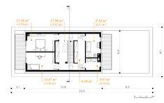 Otwarty - dom parterowy z poddaszem użytkowym i garażem   doomo Dream Houses, Townhouse, Floor Plans, How To Plan, Summer, Terrace, House, Dream Homes, Summer Time
