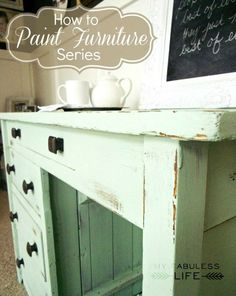 Distressing furniture #diy #furniture #painting