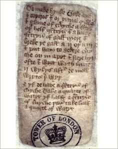 A 15th century recipe for ink, London, National Archives
