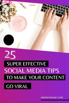 Ready to reach a bigger audience and explode your online business? Here are 25 tips to make your social media content go viral (again and again) #contentcreation #viral #socialmedia #onlinebusiness Social Media Marketing Business, Facebook Business, Social Media Tips, Business Woman Successful, Successful Online Businesses, Instagram Marketing Tips, Instagram Tips, Make Blog, Business Tips