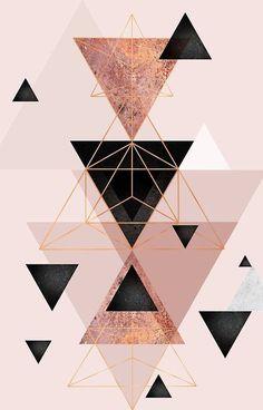 Iphone Wallpaper - Geometrische Dreiecke in Rouge und Roségold - Pinme Wallpaper - #Dreiecke #Geometrische #iPhone #Pinme #Roségold #rouge #und #Wallpaper