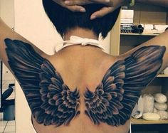 I've always loved wing tattoos on women Can't explain it but, me likey like