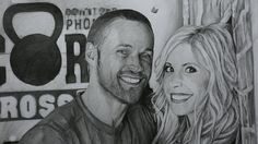 """@realchrispowell  & @realheidipowell  #ExtremeWeightLoss  Features  - Graphite pencils on paper 180g / 0.40lbs - Signed by the artist Measurements  - 49 x 70 cm / 19.29"""" W x 27.5"""" H Inch"""