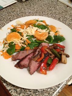 Sauteed Mushrooms and Peppers over a Montreal Seasoned London Broil