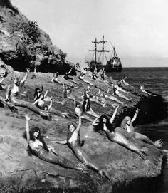"Mermaids from the silent movie ""Peter Pan"", 1924"