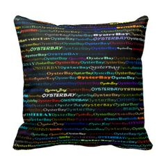Oyster Bay Text Design I Throw Pillow