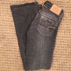 American Eagle black wash denim jeans Excellent condition. Black wash. Stretchy denim. Super comfy. American Eagle Outfitters Jeans